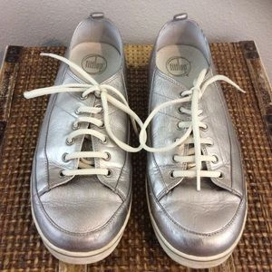 FitFlop Pewter Sneakers Sz 10